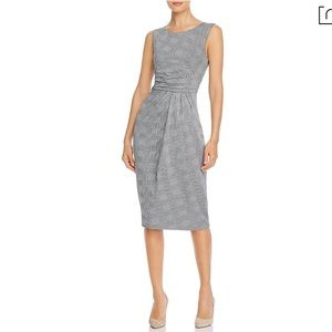 Max Mara Venezia Gathered Plaid Dress-NWT-Size:8